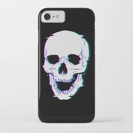 Glitch Skull iPhone Case