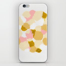 Gold pink iPhone Skin
