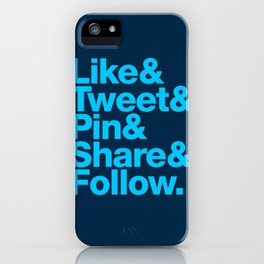 The Social Type iPhone Case