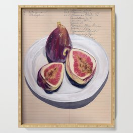 Figs on a Plate in Gouache Serving Tray