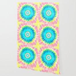 Colorful Tie Dye Shibori Wallpaper