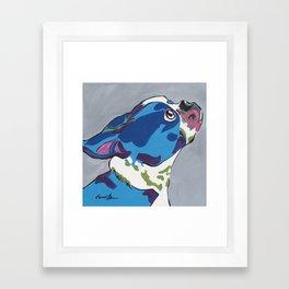 Boston Terrier Pop Art Dog Pet Portrait Framed Art Print