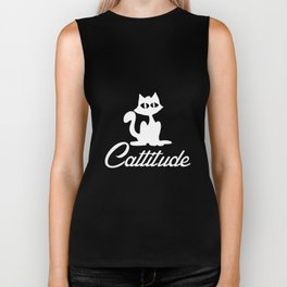 Cattitude Cute Cat Lover Gift Tee Kitten Cat Lady Tee Cat Biker Tank