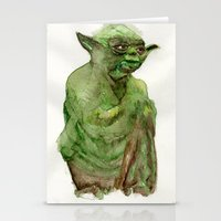 yoda Stationery Cards featuring Yoda by Catherine Johnson