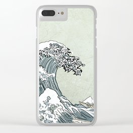 great wave 2.0 Clear iPhone Case