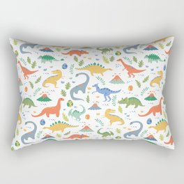 Dinos + Volcanoes Rectangular Pillow