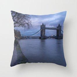 Tower Bridge in London, UK  Throw Pillow