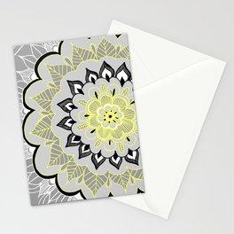 Lemon & Charcoal Lace Stationery Cards