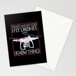 I Fly Drones Stationery Cards