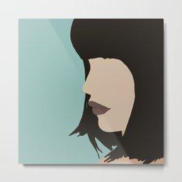 Cara - a modern, minimal abstract portrait of a woman Metal Print