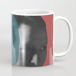 Edna St. Vincent Millay Portrait - red and blue Coffee Mug