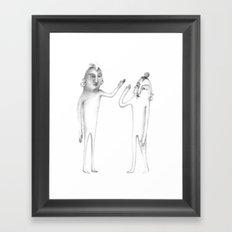 prehistoric hi-five Framed Art Print