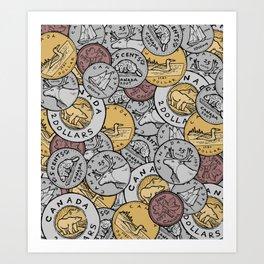 Canadian Coins Art Print