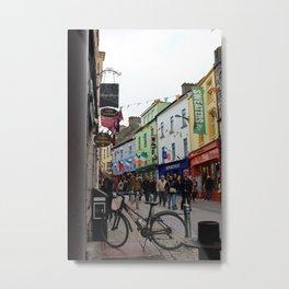 Galway Streets Metal Print