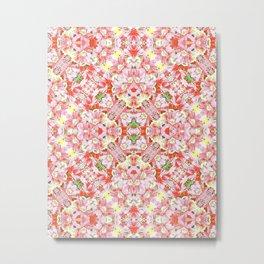 K-196 Abstract Pink Flowers Metal Print
