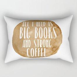 Big Books & Strong Coffee Rectangular Pillow