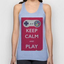 Keep calm and play Unisex Tank Top
