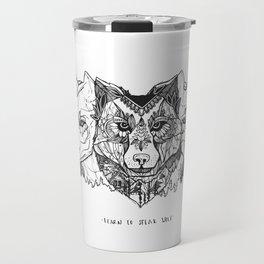 Learn To Speak Wolf Travel Mug
