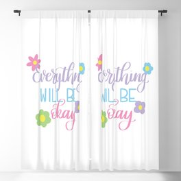 Everything will be Okay Blackout Curtain