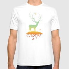 Fawn and Flora White Mens Fitted Tee MEDIUM