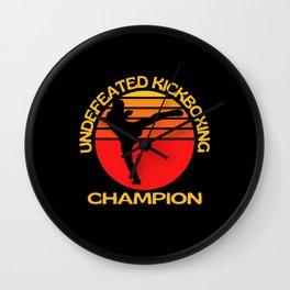 Undefeated Kickboxing Champion Wall Clock