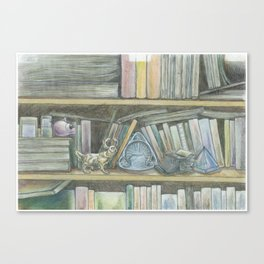 RHX Bookshelf Logo Canvas Print