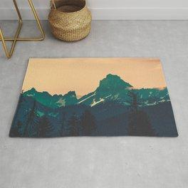 Cascade Mountains Sunset Rug