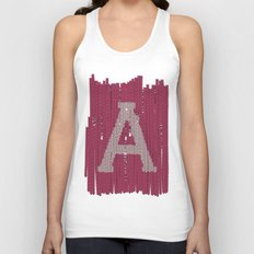 Winter clothes II. Letter A Unisex Tank Top