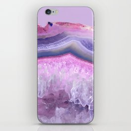 Ultraviolet and Pink Agate iPhone Skin