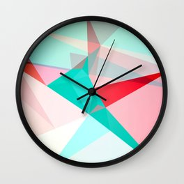 FRACTION - Abstract Graphic Iphone Case Wall Clock