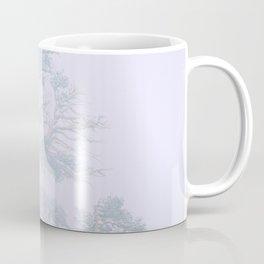 Ancient Tree in wind, snow, and fog on Windy Ridge, Colorado Coffee Mug
