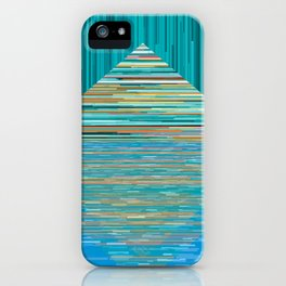 Mountain Lake Abstract iPhone Case