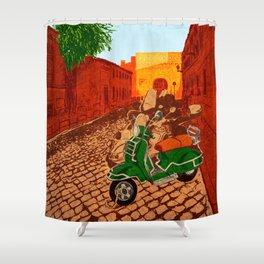 Roma Rione di Trastevere Shower Curtain