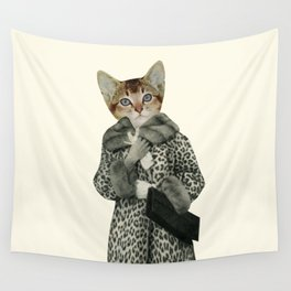 Kitten Dressed as Cat Wall Tapestry