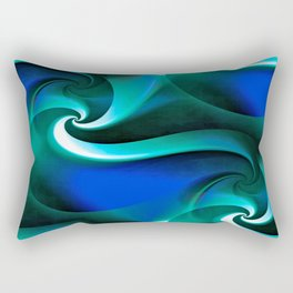 Whirly Curly (blue) Rectangular Pillow