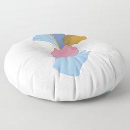 A Summer Hibiscus Floor Pillow