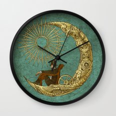 Moon Travel Wall Clock