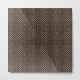 Louis Vuitton/LV Logo Pattern Brown Metal Print