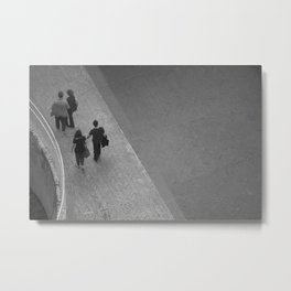 People and lines Metal Print