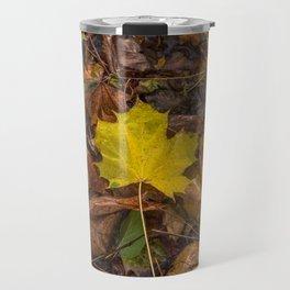 Yellow Maple Leaf Travel Mug