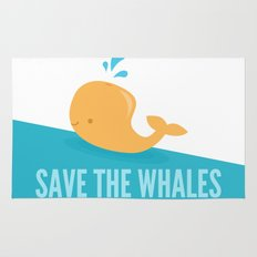 SAVE THE WHALES Rug