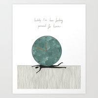 Pressed For Time Art Print