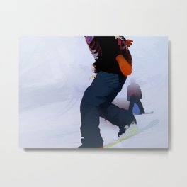 Snowboarder Moves Metal Print