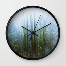 Green Explosion Wall Clock