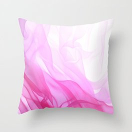 Pink Tulle Throw Pillow