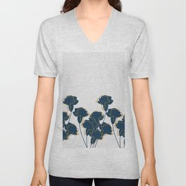 Blue Carnations Unisex V-Neck