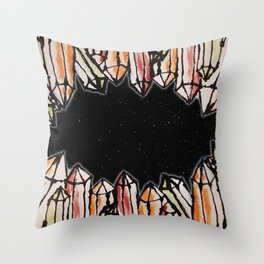 Space Crystals Throw Pillow
