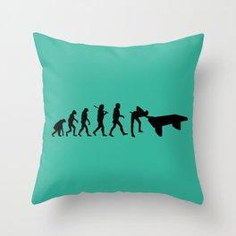 Evolution snooker Throw Pillow