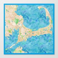 cape cod Canvas Prints featuring Cape Cod by Cityette