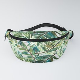 Leaf the jungle watercolor pattern Fanny Pack